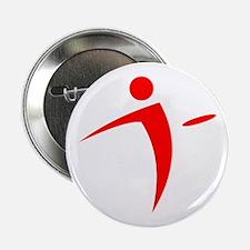 """Nano Disc Golf RED Logo 2.25"""" Button"""