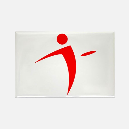 Nano Disc Golf RED Logo Rectangle Magnet