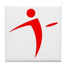 Nano Disc Golf RED Logo Tile Coaster