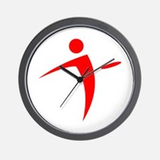Nano Disc Golf RED Logo Wall Clock