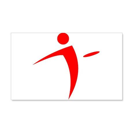 Nano Disc Golf RED Logo 20x12 Wall Decal