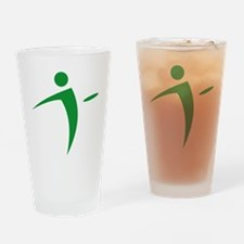Nano Disc Golf GREEN Logo Drinking Glass