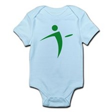 Nano Disc Golf GREEN Logo Infant Bodysuit