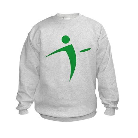 Nano Disc Golf GREEN Logo Kids Sweatshirt