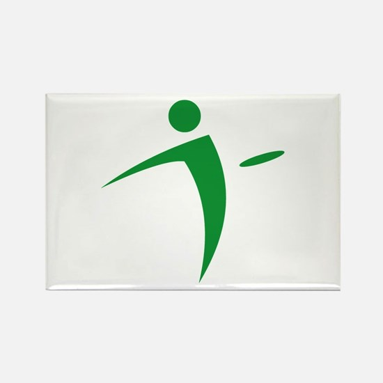 Nano Disc Golf GREEN Logo Rectangle Magnet