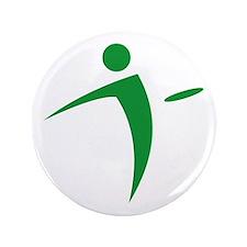 """Nano Disc Golf GREEN Logo 3.5"""" Button"""