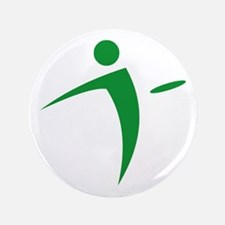 "Nano Disc Golf GREEN Logo 3.5"" Button"