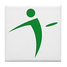 Nano Disc Golf GREEN Logo Tile Coaster
