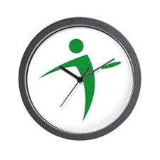 Nano Disc Golf GREEN Logo Wall Clock