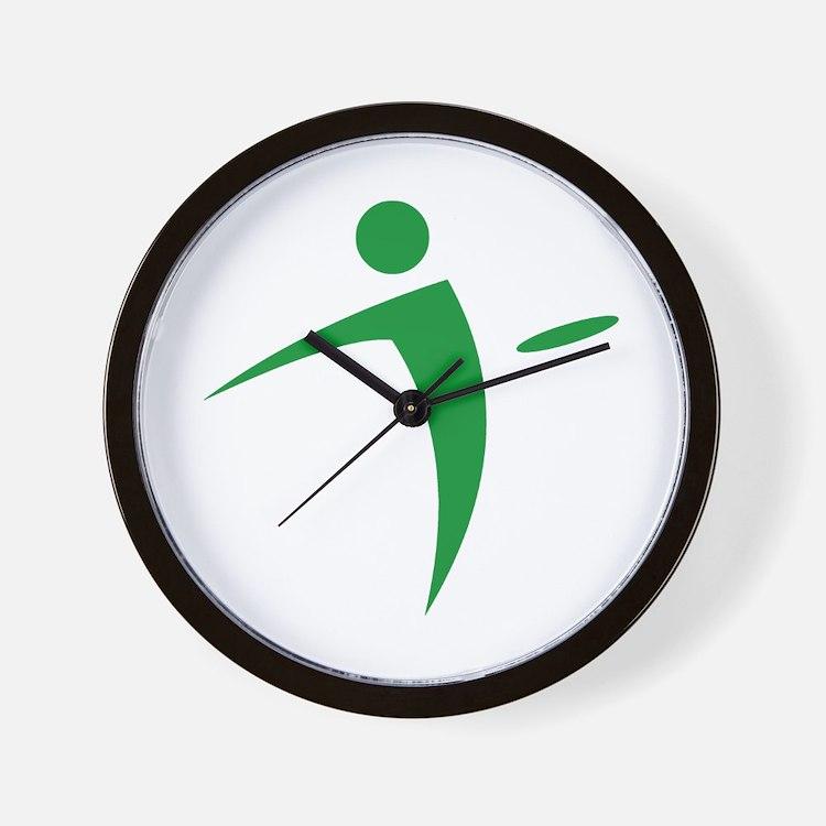 Nano Disc Golf GREEN Logo Wall Clock