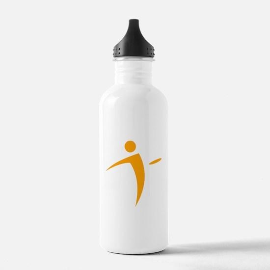 Nano Disc Golf ORANGE Logo Water Bottle