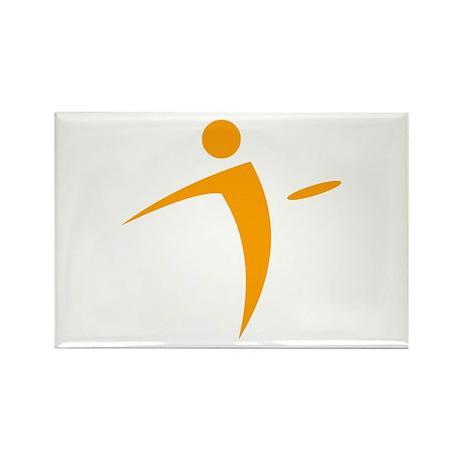 Nano Disc Golf ORANGE Logo Rectangle Magnet