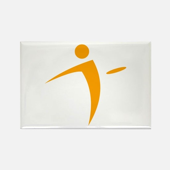Nano Disc Golf ORANGE Logo Rectangle Magnet