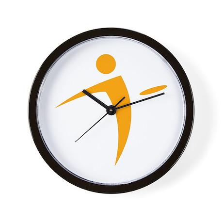 Nano Disc Golf ORANGE Logo Wall Clock