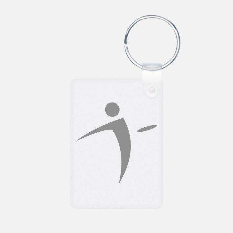 Nano Disc Golf GRAY Logo Keychains