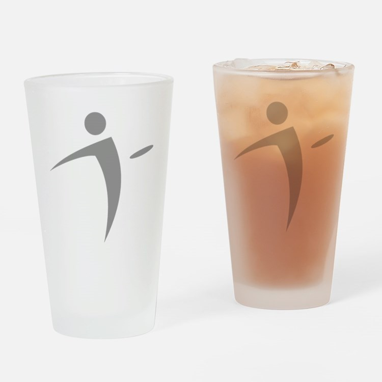 Nano Disc Golf GRAY Logo Drinking Glass