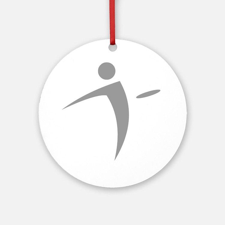 Nano Disc Golf GRAY Logo Ornament (Round)