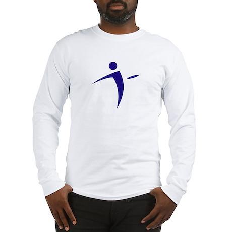 Nano Disc Golf BLUE Logo Long Sleeve T-Shirt