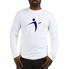 Nano Disc Golf BLUE Logo Long Sleeve T-Shirt