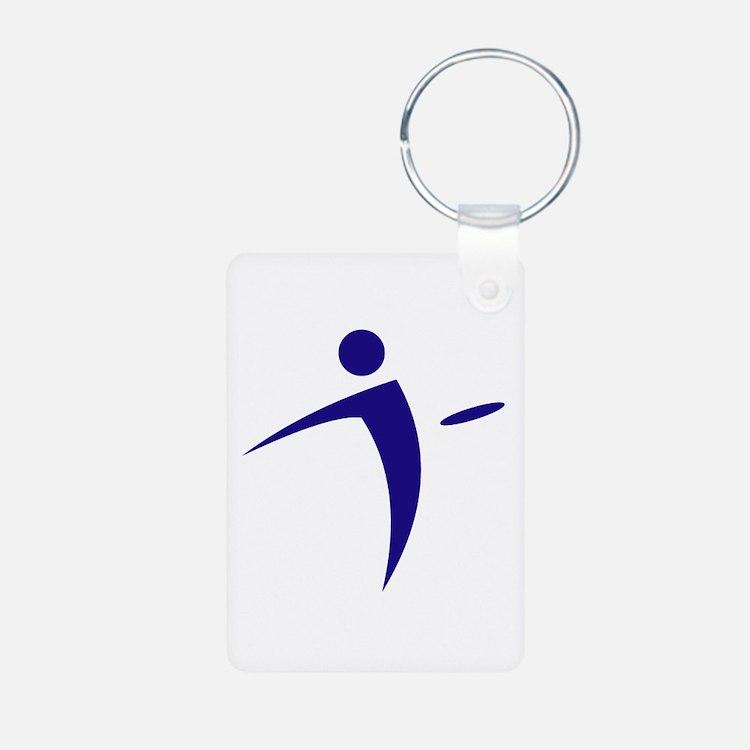 Nano Disc Golf BLUE Logo Keychains