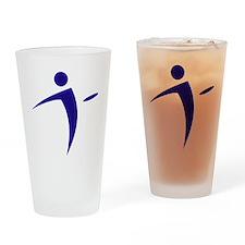 Nano Disc Golf BLUE Logo Drinking Glass