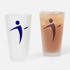 Nano Disc Golf BLUE Logo Drinking Glass