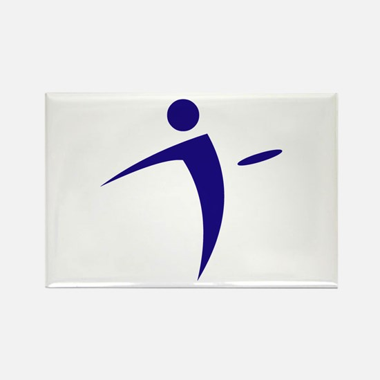Nano Disc Golf BLUE Logo Rectangle Magnet