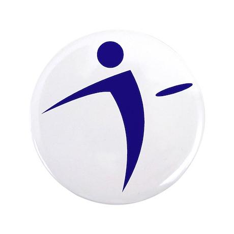 """Nano Disc Golf BLUE Logo 3.5"""" Button"""