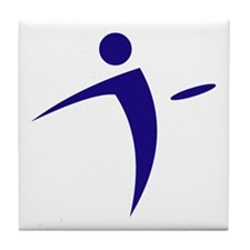 Nano Disc Golf BLUE Logo Tile Coaster