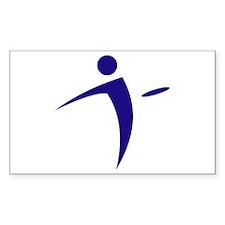 Nano Disc Golf BLUE Logo Decal