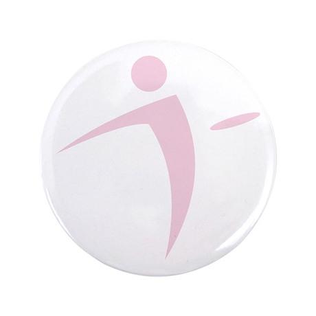 """Nano Disc Golf BABY PINK Logo 3.5"""" Button"""