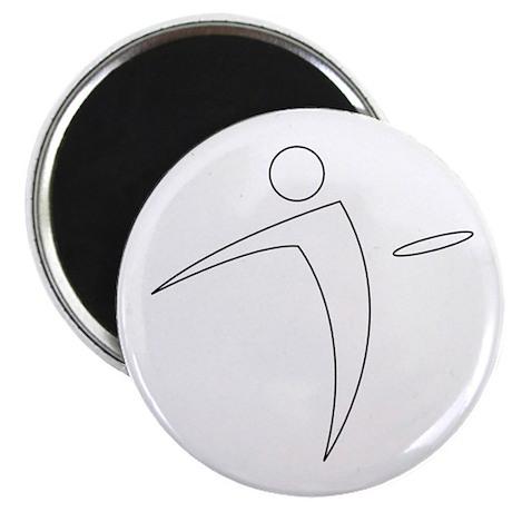 Nano Disc Golf WHITE Logo Magnet