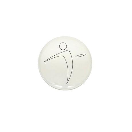 Nano Disc Golf WHITE Logo Mini Button