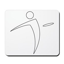 Nano Disc Golf WHITE Logo Mousepad