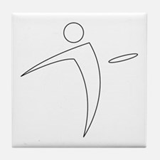 Nano Disc Golf WHITE Logo Tile Coaster