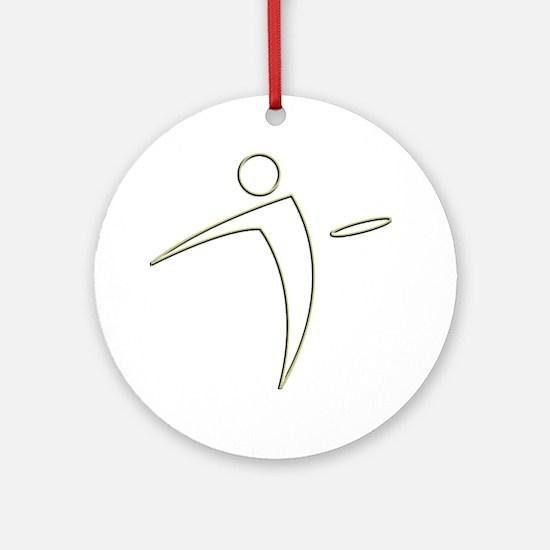 Nano Disc Golf GOLD TRIM Logo Ornament (Round)