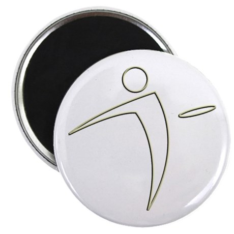Nano Disc Golf GOLD TRIM Logo Magnet