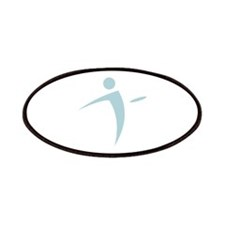 Nano Disc Golf BABY BLUE Logo Patches