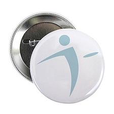 """Nano Disc Golf BABY BLUE Logo 2.25"""" Button"""