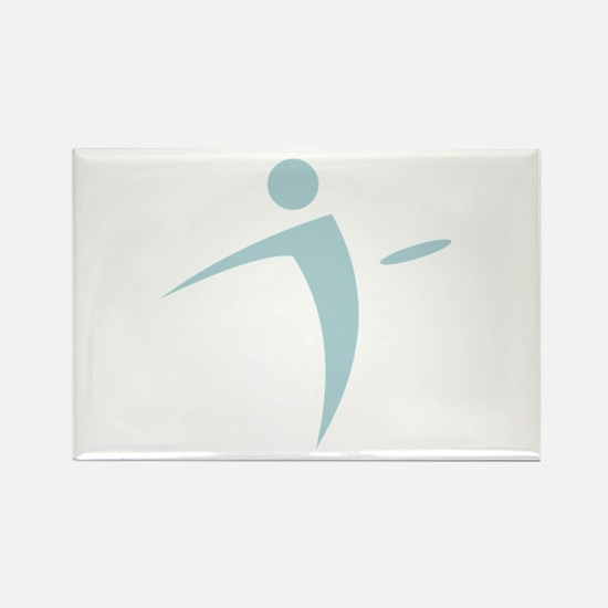 Nano Disc Golf BABY BLUE Logo Rectangle Magnet
