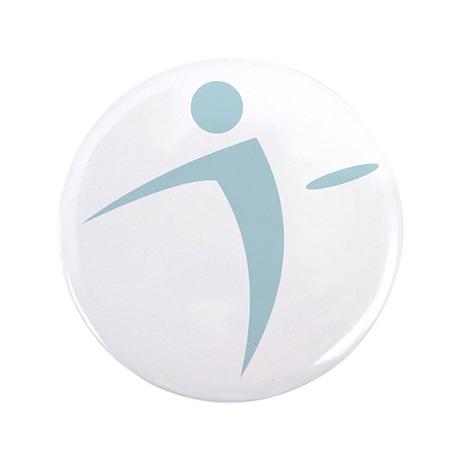 """Nano Disc Golf BABY BLUE Logo 3.5"""" Button"""