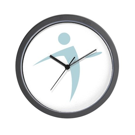 Nano Disc Golf BABY BLUE Logo Wall Clock