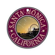 Santa Monica, California Ornament (Round)