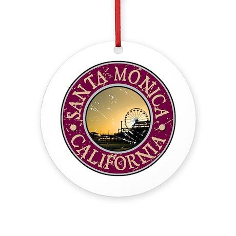 Santa Monica, California Ornament (Round)