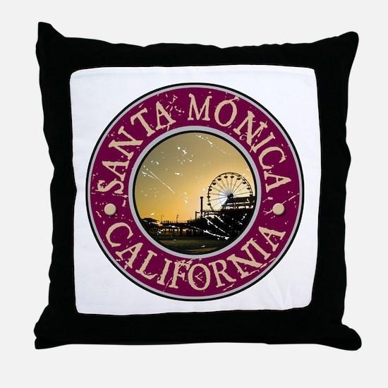 Santa Monica, California Throw Pillow