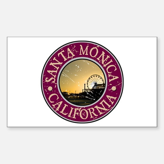 Santa Monica, California Sticker (Rectangle)