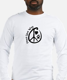 Peace Love Wag Long Sleeve T-Shirt