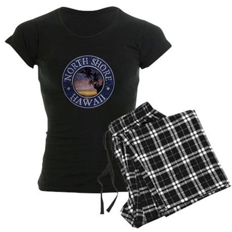North Shore, Hawaii Women's Dark Pajamas