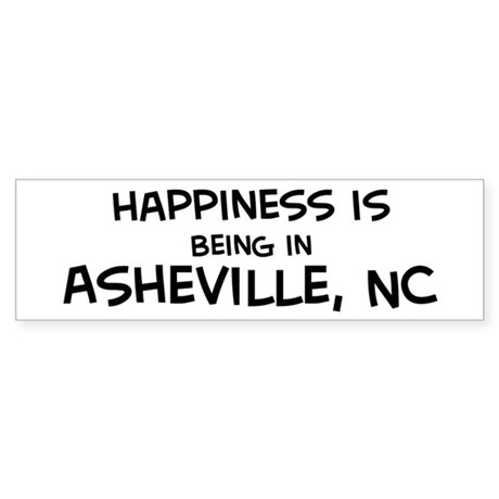 Happiness is Asheville Bumper Sticker