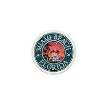Miami Beach, Florida Mini Button